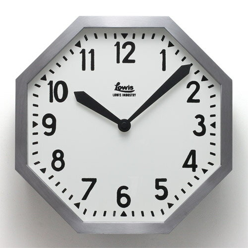 ■ LOWIS INDUSTRY OCTAGON WALL CLOCK (ルイス インダストリー オクタゴン ウォール クロック) 【AS】 【送料無料】 【ポイント10倍】