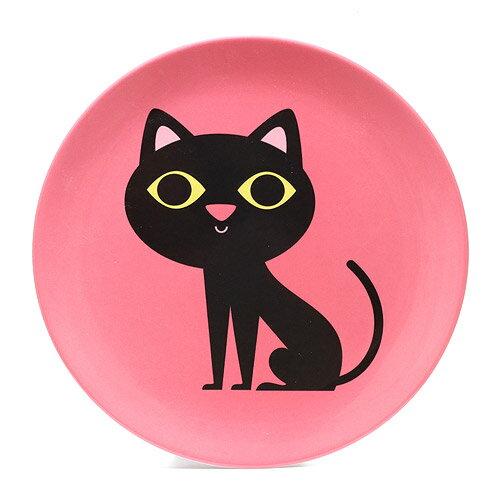OMM DESIGN MELAMINE PLATE BLACK CAT (OMM デザイン メラミン プレート ブラック キャット)【AS】