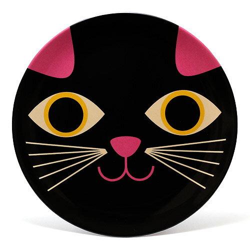 OMM DESIGN MELAMINE CAT FACE (OMM デザイン メラミン プレート キャット フェイス) 【AS】