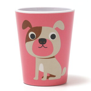 OMM DESIGN MELAMINE TUMBLR DOG WITH PINK (OMM デザイン メラミン タンブラー ドッグ ウィズ ピンク) 【AS】