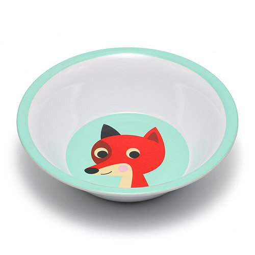 OMM DESIGN MELAMINE BOWL FOX WITH MINT (OMM デザイン メラミン ボウル フォックス ウィズ ミント) 【AS】