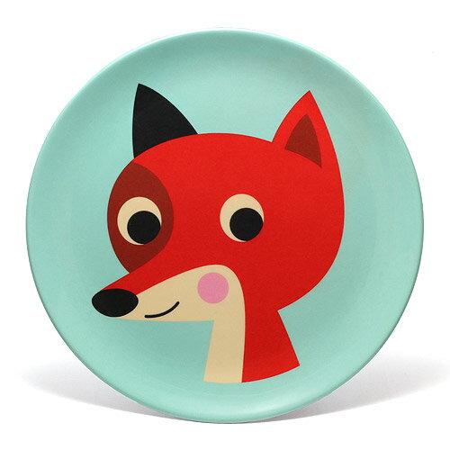 OMM DESIGN MELAMINE PLATE FOX WITH MINT (OMM デザイン メラミン プレート フォックス ウィズ ミント) 【AS】
