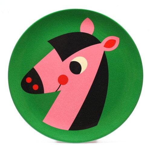 OMM DESIGN MELAMINE PLATE HORSE (OMM デザイン メラミン プレート ホース) 【AS】