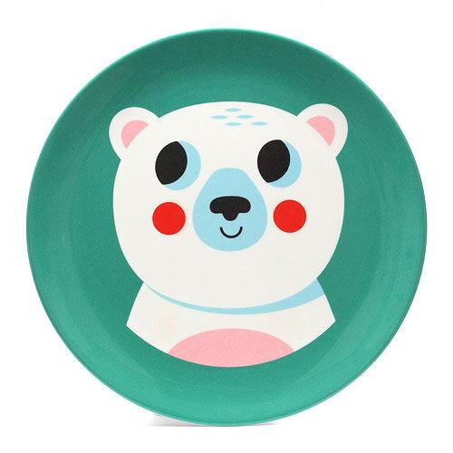 OMM DESIGN MELAMINE PLATE POLAR BEAR (OMM デザイン メラミン プレート ポーラ ベアー)【AS】