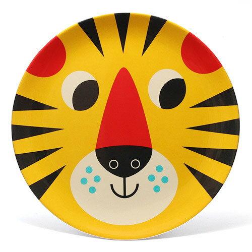OMM DESIGN MELAMINE PLATE TIGER FACE (OMM デザイン メラミン プレート タイガー フェイス) 【AS】
