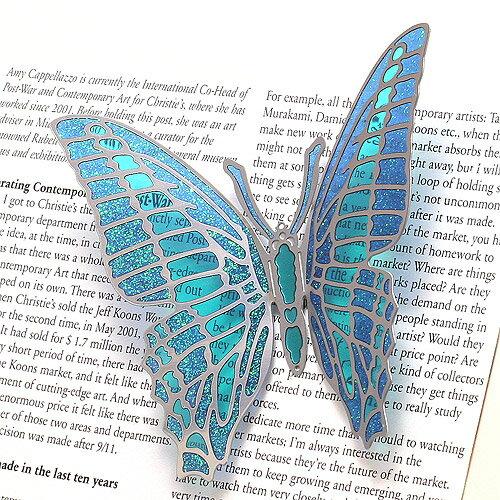 BUTTERFLY MAGNET L BLUE (バタフライ マグネット L ブルー)
