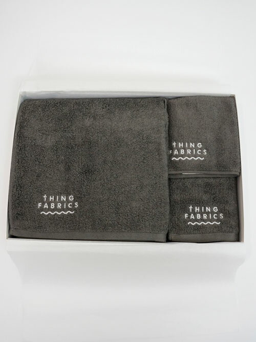 【thingFABRICS(シングファブリックス)】TIP TOP 365 Towel Gift Box (タオルギフトセットBOX)【今治 タオル】【バスタオル】【フェイスタオル】【ハンドタオル】【TFOT-1012】
