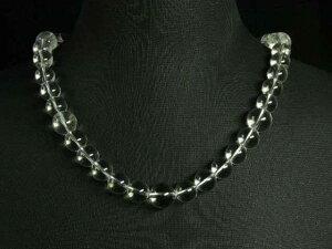 天然石ネックレス 天然本水晶ネックレス10ミリ玉50センチ〜70センチ