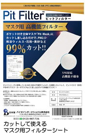 マスク フィルター 国産 日本製 シート不織布 在庫有 交換シート ピットフィルターシート N95対応高機能フィルター カットして使える 手作りマスク用 抗菌 インナーシート 取り替えシート/メール便可