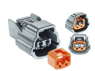 Sumitomo Wiring Systems 090 type 62 waterproofing series E type 2 pole F connector (gray) terminal no /2P090WP-62E-GY-F-tr