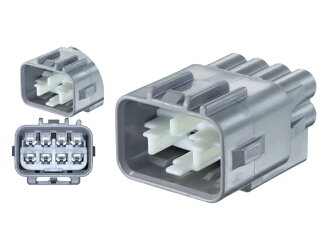Only as for Yazaki total work 090II series 8 pole M connector, it is /8P090WP-YZ-A-M-tr [gray] (terminal nothing)