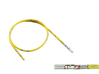 /F025-AMP3-035056-CAVS03YE with 0.64-3 female terminal non-waterproofing 035056-CAVS0.3 yellow electric wires made in 025 type AMP
