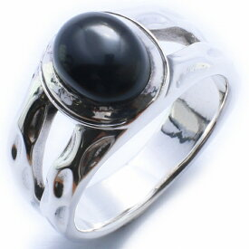 【RG-O030】SILVER 925オニキスサークルカットシルバーリング/【指輪】/メンズ/レディース/【あす楽】