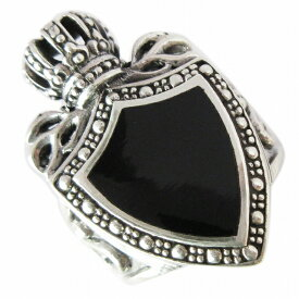 【RG-O090】SILVER 925ブラッククラウンシールドシルバーリング/【指輪】/メンズ/レディース/【あす楽】/ギフト/プレゼント
