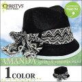 帽子:【Christys'Hat】【CCS1136】クリスティーズAMANDA◇ブラック◇ch-ccs1136