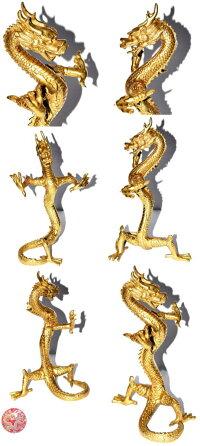 銅製風水昇龍像