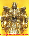 銅製五爪風水龍王座像(人間の姿)