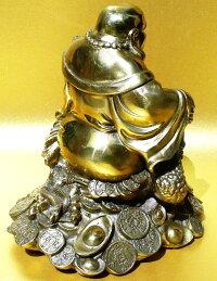 布袋様七福神BuddhaMaitreya銅製金運珍獣風水三本脚の蛙乗り開運布袋様像銅製開運置物新品送料無料威龍彩雲通販楽天スーパーSALE期間中50%OFFポイント20倍