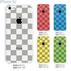 【iPhone5c】【iPhone5c ケース】【iPhone5c カバー】【ケース】【カバー】【スマホケース】【クリアケース】【クリアーアーツ】【チェック・ボーダー・ドット】【ボックス・ホワイト】 06-ip5c-