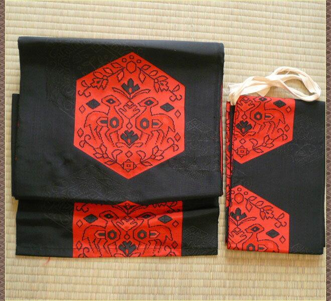 作り帯 化繊 黒色