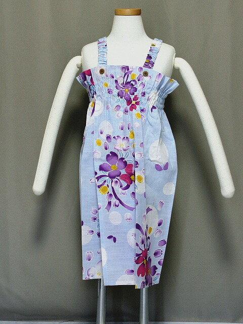 格安 子供浴衣ドレス ボレロ付ゆかたワンピース 女の子供用ゆかたドレス 3〜4才用 Z8412-03