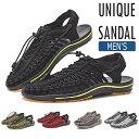 送料無料 サンダル メンズ ユニーク サンダル ラウンドコード スポーツサンダル スポサン メンズ 歩きやすい 靴 スニ…