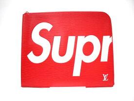 ルイ・ヴィトン LOUIS VUITTON × シュプリーム Supreme 〔17AW〕Pochette Jour GM ポシェットジュール クラッチバッグ M67722 赤×白 中古 新品未使用 美品