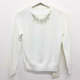Cut-and-sew white used like-new beautiful article with the アプワイザーリッシェ Apuweiser riche bijou