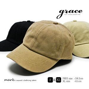 メンズ キャップ ゴルフ 帽子 ゴルフキャップ ゴルフ帽子 大きいサイズ フリーサイズ キャンバス素材 ダック素材 綿 コットン grace グレース MAJOR CAP 大きい XL サイズ調節