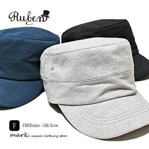 メンズ ワークキャップ ゴルフ 帽子 ゴルフキャップ ゴルフ帽子 キャップ 大きいサイズ フリーサイズ スウェット素材 ゴム入り オールシーズン カジュアル RUBEN ルーベン スウェットワーク