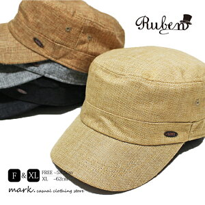 メンズ ワークキャップ ゴルフ 帽子 ゴルフキャップ ゴルフ帽子 メンズキャップ 大きいサイズ フリーサイズ レディース カジュアル キャップ 春 夏 麻 涼しい RUBEN ルーベン フェイクリネン