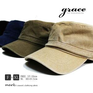 メンズ ワークキャップ ゴルフ キャップ 帽子 ゴルフキャップ ゴルフ帽子 大きいサイズ フリーサイズ キャンバス素材 ダック素材 綿 コットン grace グレース MINER CAP マイナーキャップ 大きい