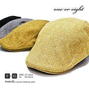 メンズ ゴルフ ハンチング 帽子 大きいサイズ フリーサイズ ゴルフキャップ ゴルフ帽子 one or eight ワンオアエイト 編込みMIX サイドベルト ハンチング レディース ビッグサイズ XL FREE サイズ
