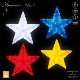 LEDクリスタルグロー スター(大)星★(施工用プロ仕様/業務用/クリスマス LED イルミネーション モチーフ ライト 屋外仕様 防雨/施工用/ディスプレイ/オーナメント/クリスマスツリーと共に・・・)
