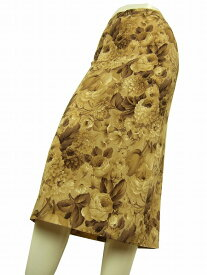 【中古】ドルチェアンドガッバーナ DOLCE&GABBANA 伊製 シルク混 綺麗ボタニカル柄スカート I42号 レディース ボトムス