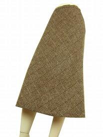 【中古】ハーディエイミス HARDY AMIES 優ブラウン系 暖ウール 美柄スカート 9号 レディース ボトムス
