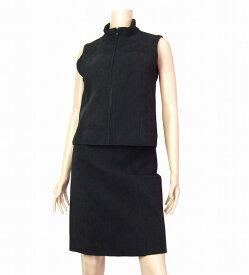 【中古】クーム COOMB 黒 ブラック 異素材 美的スカートスーツ 40号/11号 秋冬 レディース ボトムス