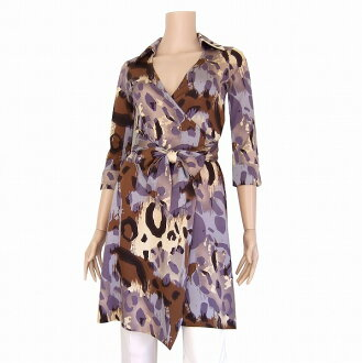 DIANE VON FURSTENBERG/ Diane phone Fass ten Bergh / high quality silk silk 100/7 share sleeve / lap tunic / tops / small size 0/5 - 7/ / Lady's in the spring and summer