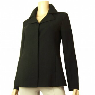 Outer lady's in suite KUMIKYOKU NOIR black black single garment made to look double at the sleeve and skirt four circle jacket small size 1 /7 autumn in ... spring
