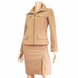 【中古】フラジール FRAGILR 比翼 裏地玉虫色 美形スカートスーツ 38号 小さいサイズ 34号 春秋 レディース ボトムス
