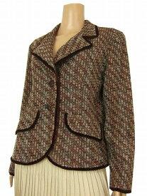 【中古】ニーマンマーカス Neiman Marcus 絹×リネン混 美形ジャケット 大きいサイズ 13号 レディース アウター