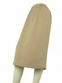 【中古】詩仙堂 ベージュ系 高級ちりめん お洒落デザインスカート 9号 レディース ボトムス