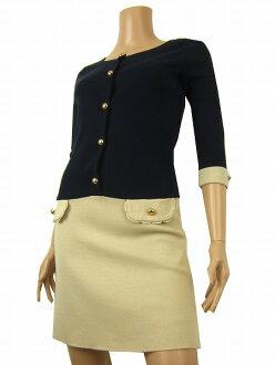 アプワイザーリッシェ Apuweiser riche seven minutes sleeve by color beautiful woman dress small size 7 Lady's