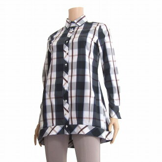 ★1 ★ / Lady's that ナラカミーチェ * checked pattern * shirt tunic * is small in the spring and summer
