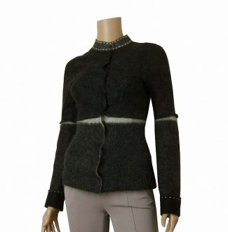 ★Size S ★ / Lady's that * thin jacket * made in Alberta Ferretti * gray * Italy is small in the fall and winter
