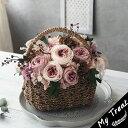 ショコラ パニエ プリザーブドフラワー お祝い フラワーギフト 結婚記念日 ギフト プリザードフラワー ブリザードフラ…