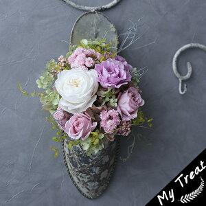 ミュールプリザーブドフラワーお祝いフラワーギフト結婚記念日フェミニンブリザードフラワ−花ギフト誕生日結婚祝新築祝