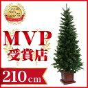クリスマスツリー ウッドベーススリムツリー