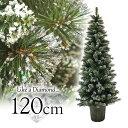 クリスマスツリー ダイヤモンドスノーポットツリー120cm ポットツリー ヌードツリー