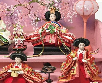 雛人形ひな人形焼桐三段飾り